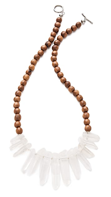 La Vie Bobo Medium Wood Quartz Necklace