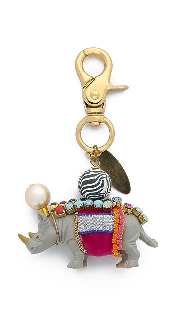 Lenora Dame Rhino Bag Charm
