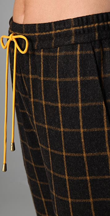 Lyn Devon Plaid Drawstring Truman Pants