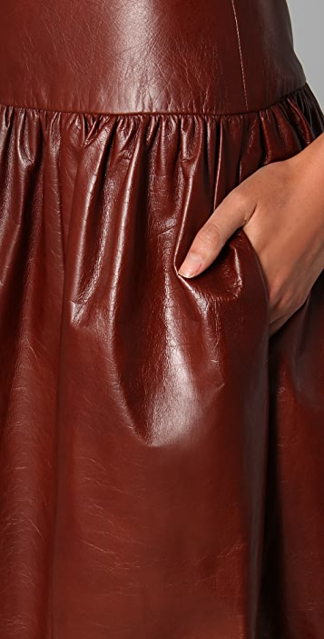 Lyn Devon Molly Leather Skirt