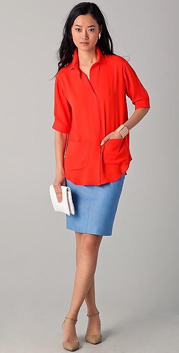 Lyn Devon City Leather Skirt