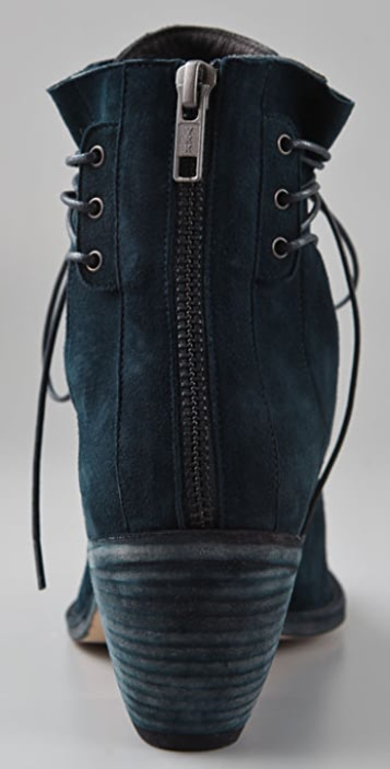 LD Tuttle The Blue Lace Up Suede Booties
