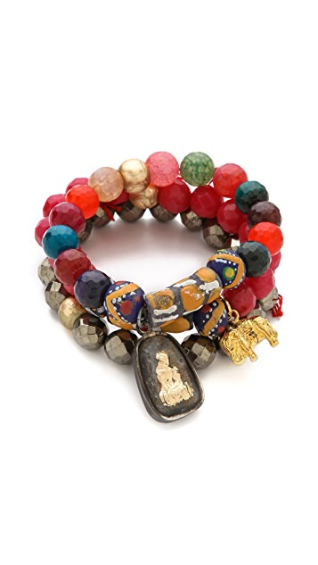Lead African Bead Bracelet Set