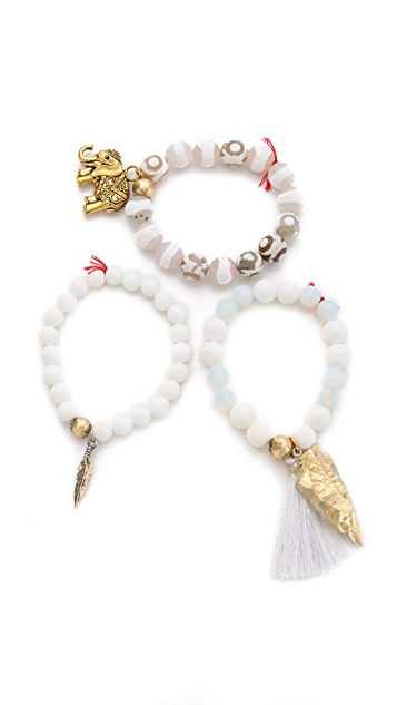 Lead White Out Bracelet Set