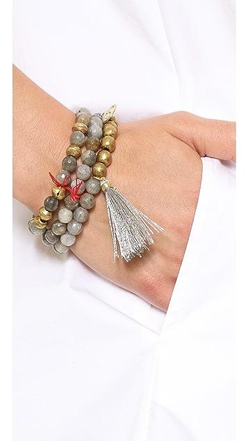 Lead Buddah Beaded Bracelet Set