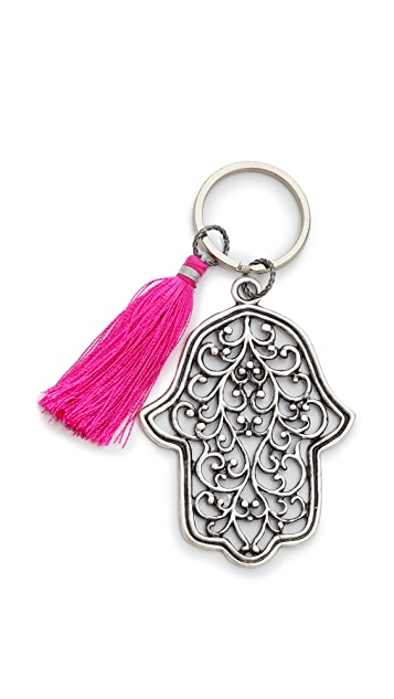 Lead Hamsa Tassel Keychain