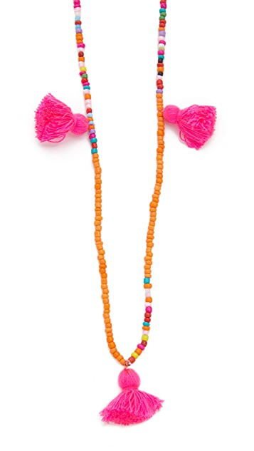 Lead Mutli Tassel Necklace