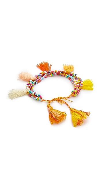 Lead Tassel Multi Strand Bracelet