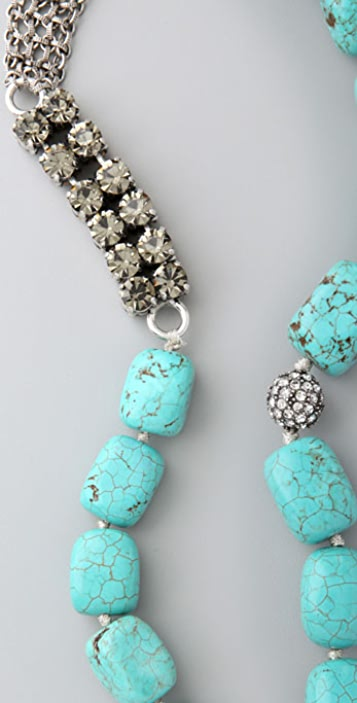 Lee Angel Jewelry Naomi Oversized Turquoise Necklace