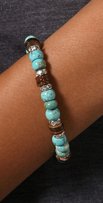 Lee Angel Jewelry Roxanne Mother of Pearl & Turquoise Bracelet