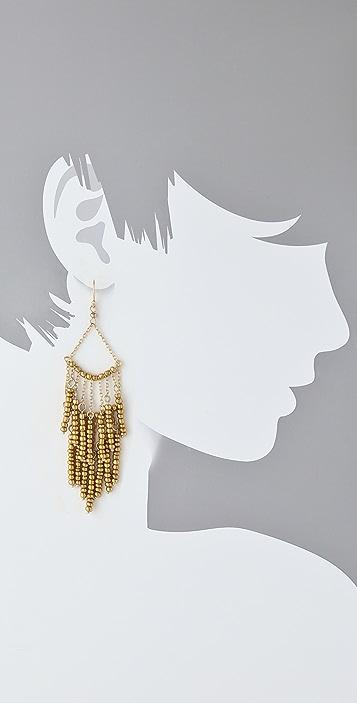 Lee Angel Jewelry Beaded Fringe Earrings