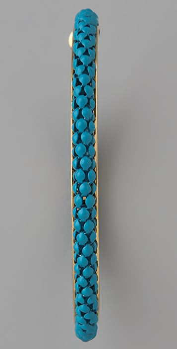 Lee Angel Jewelry Mesh Chain Hoop Earrings