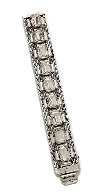 Lee Angel Jewelry Emerald Cut Mesh Chain Bracelet