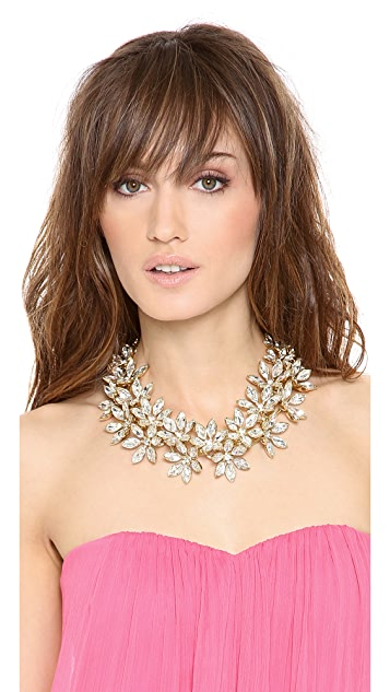 Lee Angel Jewelry Multi Flower Statement Necklace