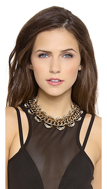Lee Angel Jewelry Crystal Baguette Statement Necklace