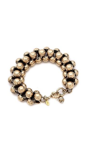 Lee Angel Jewelry Metal Cabochon Bracelet