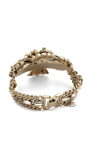 Lee Angel Jewelry Center Crest Stone Statement Bracelet