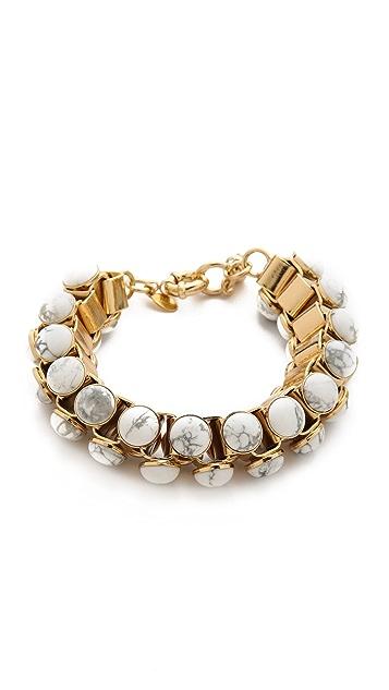 Lee Angel Jewelry Howlite Cabochon Link Bracelet