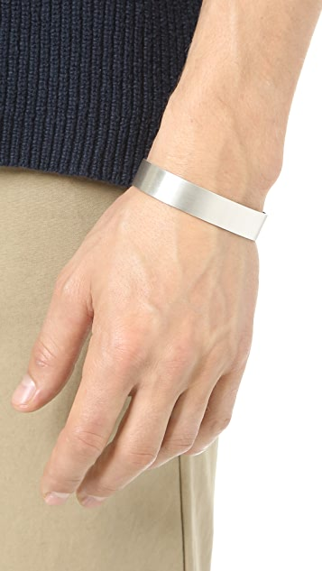 Le Gramme Le 45 Grammes Brushed Silver Cuff