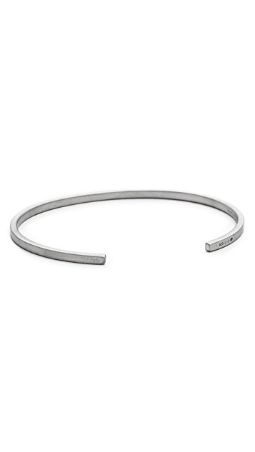 Le Gramme Le 7 Grammes Brushed Black Silver Cuff