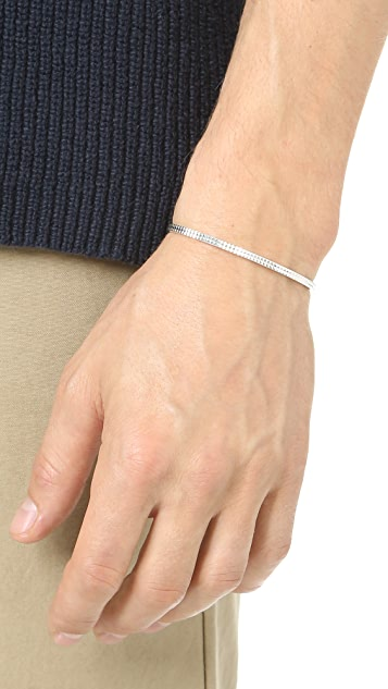 Le Gramme Le 9 Grammes Polished Silver Guilloche Cuff