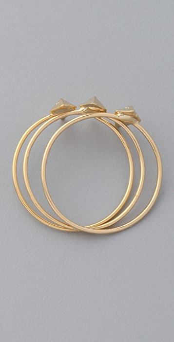 Rachel Leigh Jewelry Set of 3 Tryst Delicate Rings