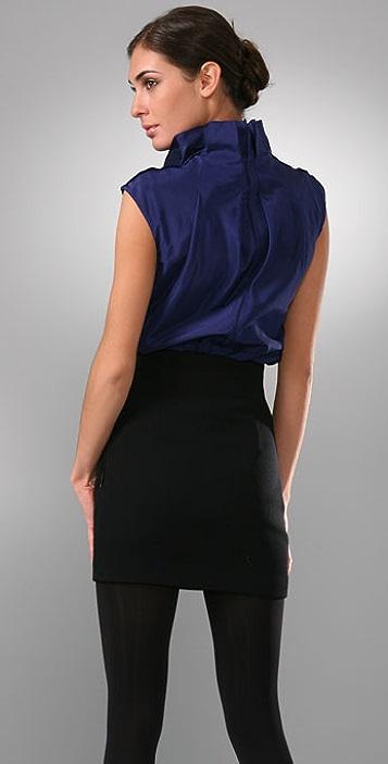 Lela Rose Portrait Collar Blouse Shopbop
