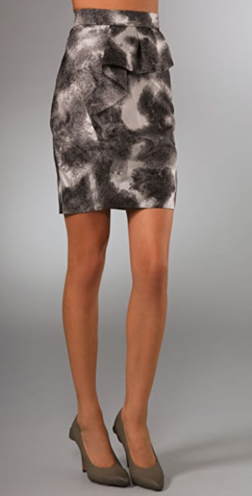 Lela Rose Pencil Skirt with Draped Detail