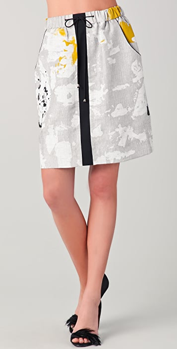 Lela Rose Drawstring Sport Skirt