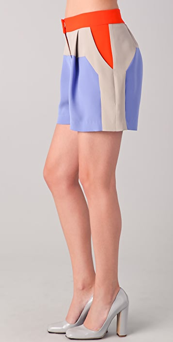 Lela Rose Colorblock Shorts