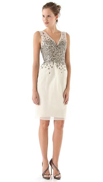 Lela Rose Beaded Embroidery Dress