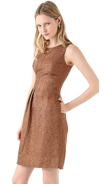 Lela Rose Metallic Sheath Dress