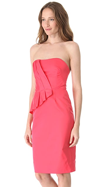 Lela Rose Wrapped Strapless Dress