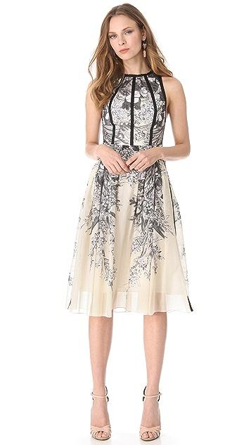 Lela Rose Sleeveless Halter Dress