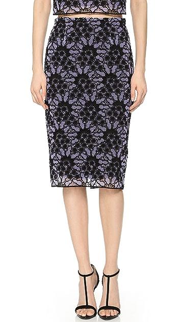Lela Rose Lace Pencil Skirt