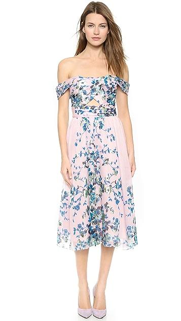 9af2ccd8363a Lela Rose Floral Pleat Dress