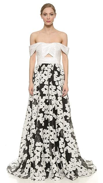 3b8e27aef52e Lela Rose Off Shoulder Gown