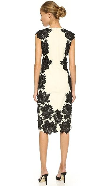 Lela Rose Lace Sheath Dress
