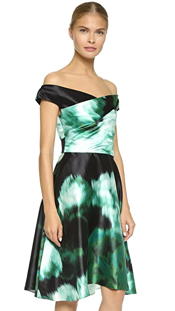 Lela Rose Draped Bodice Dress