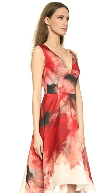 Lela Rose Double V Dress