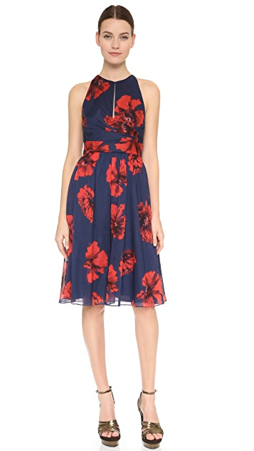 Lela Rose Modified Halter Dress