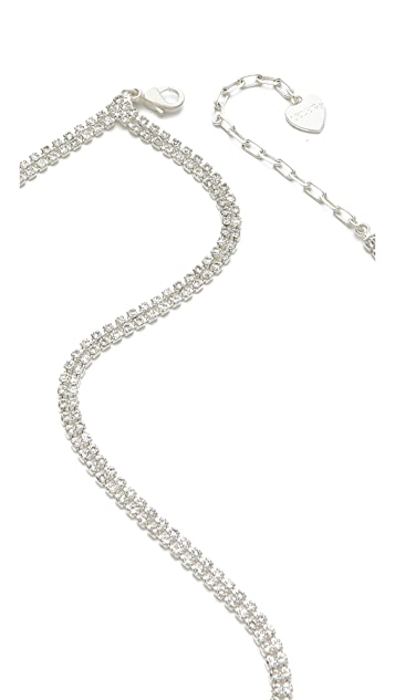LELET NY Lattice Lace Crystal Headband