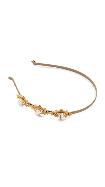 LELET NY Addison Crystal & Filigree Headband