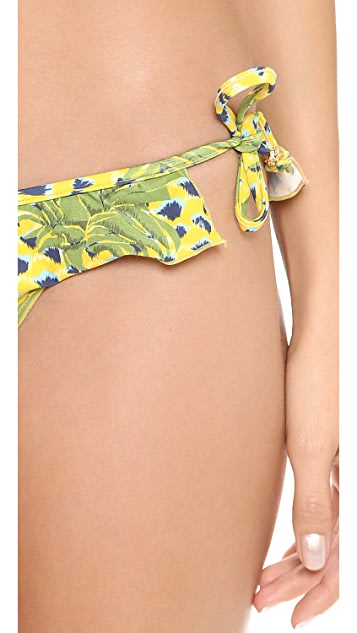 Lenny Niemeyer Pina Ruffle String Bikini Bottoms