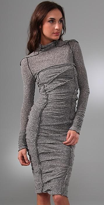 Les Chiffoniers Black & White Melange Zigzag Dress
