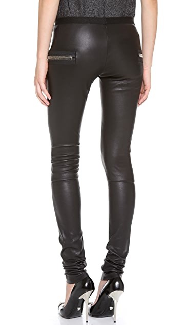 Les Chiffoniers Classic Leather Leggings