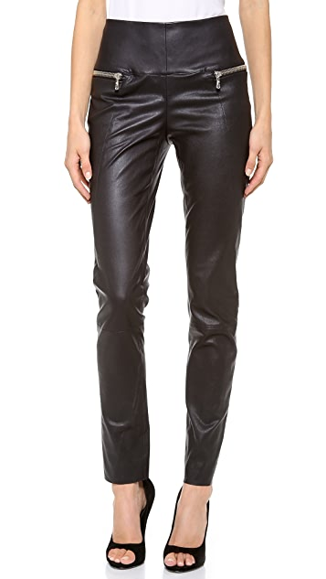 Les Chiffoniers Double Zip Leather Pants