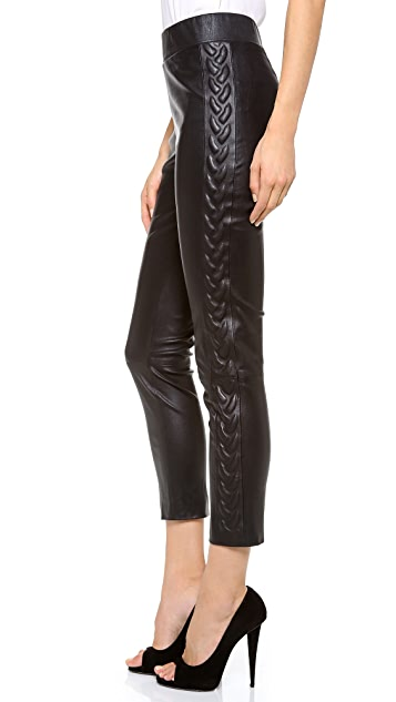 Les Chiffoniers Leather Cable Pants