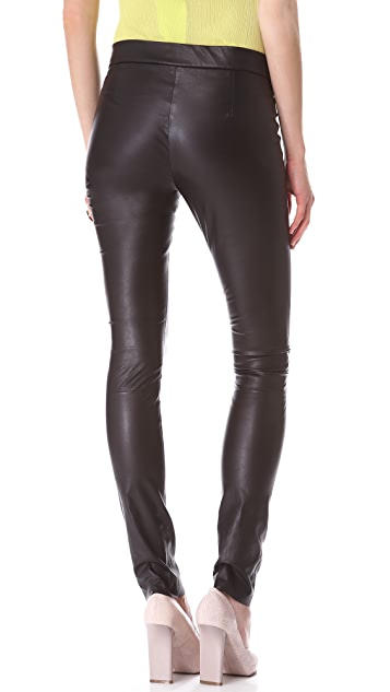 Les Chiffoniers Light Leather Leggings