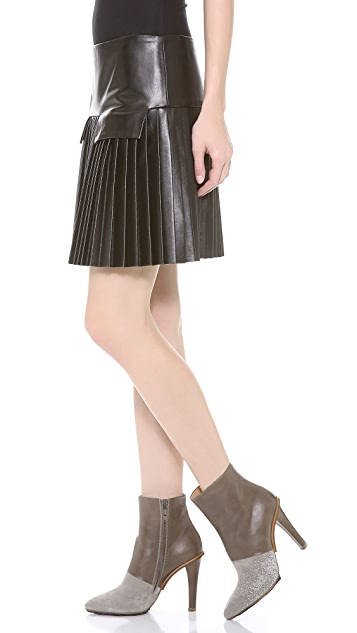 Les Chiffoniers Pleated Pocket Flap Skirt